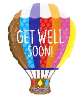 "20"" Shape Get Well Hot Air Balloon Shape Gellibean Balloon"
