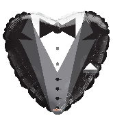 "18"" Heart Groom's Tux Balloon"