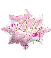 "18"" Shape It&#39s A Baby Girl Shape Balloon"