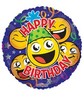 "18"" Birthday Smile Faces Balloon"