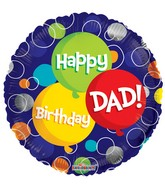 "18"" Happy Birthday Dad Balloon"