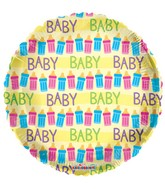 "18"" Baby Bottles Yellow Balloon"