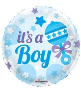 "18"" Baby Rattle Boy Balloon"