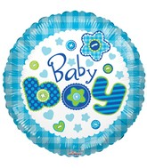 "18"" Baby Boy Quilt Balloon"