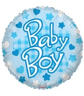 "18"" Baby Boy Patterns Balloon"