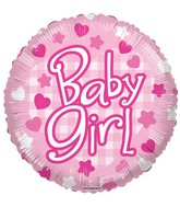 "18"" Baby Girl Patterns Balloon"