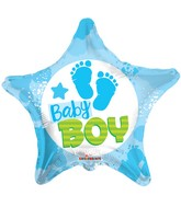"18"" Baby Boy Footprints Balloon"