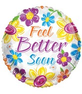 "18"" Feel Better Soon Flowers Balloon"