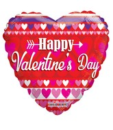 "18"" Happy Valentine&#39s Day With Love Balloon"