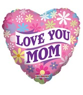 "18"" Love You Mom Banner Balloon"