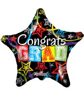 "18"" Congrats Grad Star Balloon"