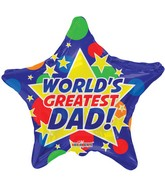"18"" World&#39s Greatest Dad! Balloon"