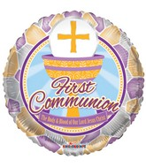 "18"" First Communion Stained Glass Balloon"