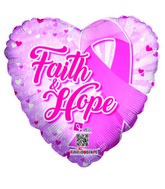 "18"" Faith & Hope Balloon Breast Cancer"