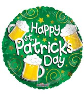 "18"" Happy St. Patrick&#39s Beers Balloon"