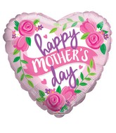 "9"" Airfill Only Happy Mother&#39s Day Rosas & Banner Balloon"