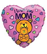 "18"" Love You Mom Bears Balloon"