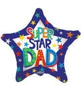 "9"" Airfill Only Super Star Dad Balloon"