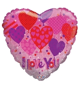 "18"" I Love You Holograpic Balloon"