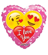 "18"" I Love You Couple Of Smilies Balloon"