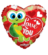 "18"" I Love You Turtle Balloon"