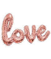 "36"" Rose Gold Love Script Shape Balloon (Airfill Only)"