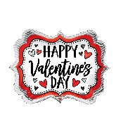 "18"" Happy Valentine's Day Marquee Shape Balloon"