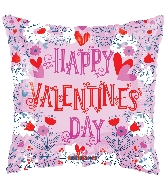 "18"" Happy Valentine's Day Lined Balloon"