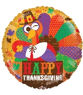 "18"" Thanksgiving Cool Turkey Balloon"