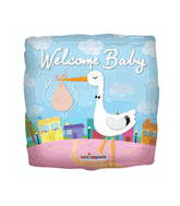 "22"" Welcome Baby Stork Balloon"
