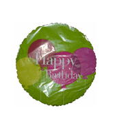 "9"" Airfilll Only Happy Birthday Balloons"