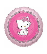 "18"" White Cat Balloon Round"