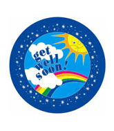 "18"" Get Well Soon Sun With Rainbow with weight"