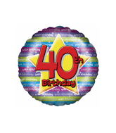 "18"" Age 40th Birthday Balloons"