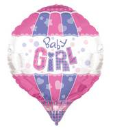 "28"" Baby Girl Aerostatic 3D Balloon"