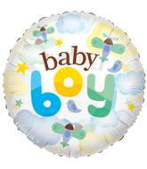 "24"" Baby Boy Airplanes Clear View Balloon"