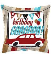 "17"" Happy Birthday Grandpa Car Balloon"