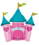 "14"" Airfill Only Happy Birthday Princess Castle Mini"