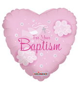 "18"" Girl Baptism Dove Balloon"