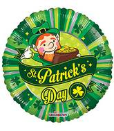 "18"" St. Patrick&#39s Day Scene Balloon"