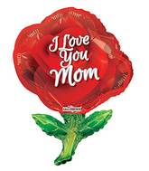 "36"" Mother&#39s Red Rose Shape Balloon"