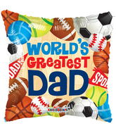 "9"" World&#39s Greatest Dad Sports"