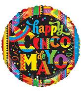 "18"" Cinco De Mayo Folklore Balloon"