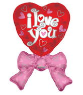 "36"" Heart With Bow Balloon"