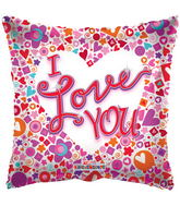 "18"" I Love You Balloon Mosaic Clear View"