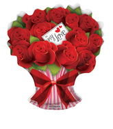 "28"" To My Love Rose Bouquet Balloon"