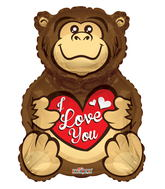 "28"" Gorilla Love You Shape"