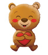 "28"" Smiling Bear Love Shape"