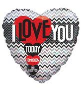 "18"" I Love You Today Tommorow Forever Holographic"