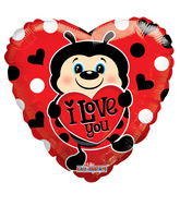 "9"" Aifill Only Lady Bug With Heart"